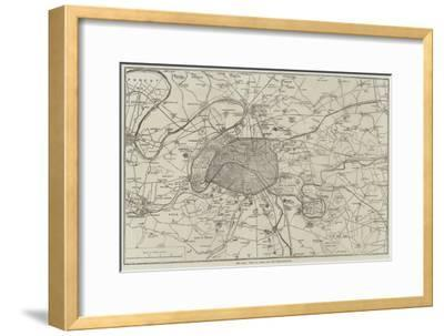 The War, Plan of Paris and the Fortifications--Framed Giclee Print