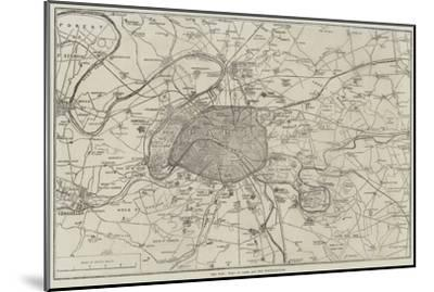 The War, Plan of Paris and the Fortifications--Mounted Giclee Print