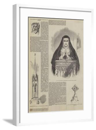 The Increase of Convents in England and France--Framed Giclee Print