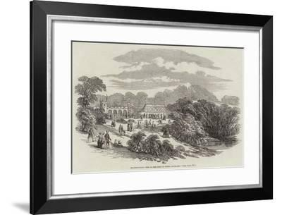 Horticultural Fete in the Park of Bishop Auckland--Framed Giclee Print