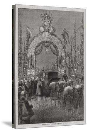 Presentation of Address by the Mayor of Windsor--Stretched Canvas Print