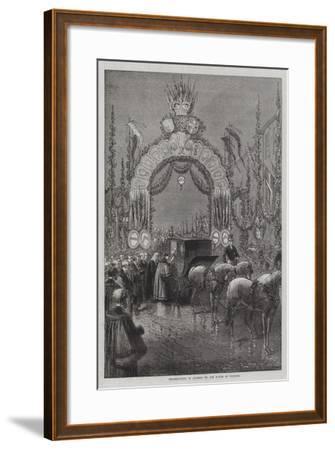 Presentation of Address by the Mayor of Windsor--Framed Giclee Print