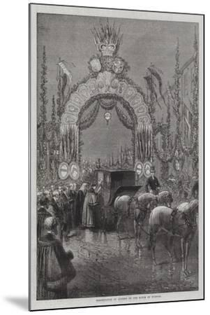 Presentation of Address by the Mayor of Windsor--Mounted Giclee Print