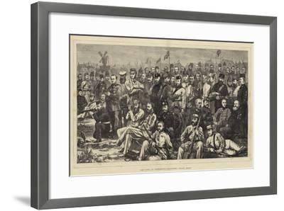 The Camp at Wimbledon, Volunteer Crack Shots--Framed Giclee Print