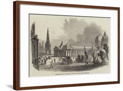 Edinburgh, Royal Institution, and Scott Monument--Framed Giclee Print