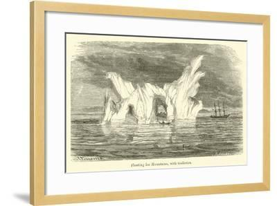 Floating Ice Mountains, with Galleries--Framed Giclee Print