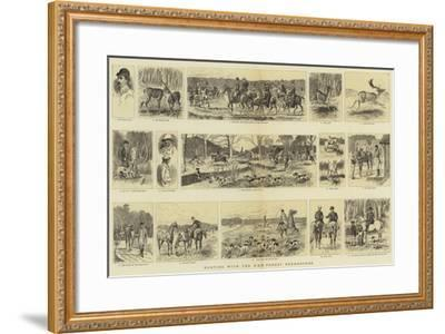 Hunting with the New Forest Deerhounds--Framed Giclee Print