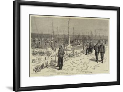 Egypt, the English Cemetery at Tel-El-Kebir--Framed Giclee Print