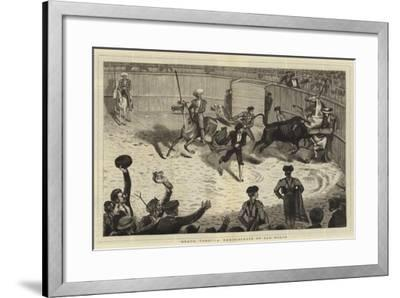 Bravo, Toro!, a Reminiscence of San Roque--Framed Giclee Print