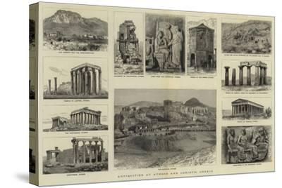 Antiquities at Athens and Corinth, Greece--Stretched Canvas Print