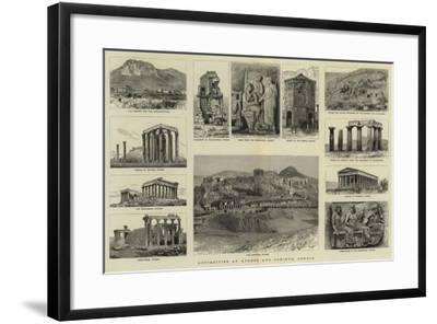 Antiquities at Athens and Corinth, Greece--Framed Giclee Print