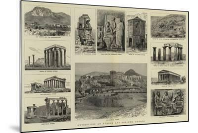 Antiquities at Athens and Corinth, Greece--Mounted Giclee Print