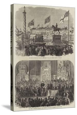 Visit of the Duke of Edinburgh at Glasgow--Stretched Canvas Print