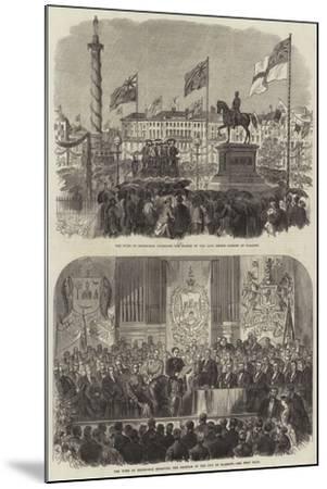 Visit of the Duke of Edinburgh at Glasgow--Mounted Giclee Print