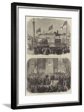 Visit of the Duke of Edinburgh at Glasgow--Framed Giclee Print