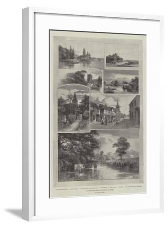 A Summer Ride Through Weybridge to Bisley--Framed Giclee Print