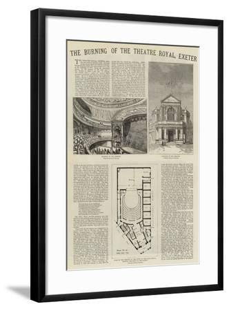 The Burning of the Theatre Royal, Exeter--Framed Giclee Print
