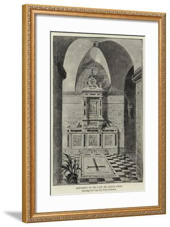 Monument to the Late Sir Bartle Frere--Framed Giclee Print
