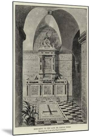 Monument to the Late Sir Bartle Frere--Mounted Giclee Print