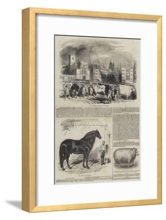 Smithfield, the Great Christmas Market--Framed Giclee Print