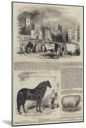 Smithfield, the Great Christmas Market--Mounted Giclee Print