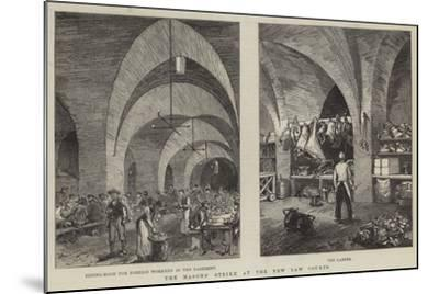 The Masons' Strike at the New Law Courts--Mounted Giclee Print