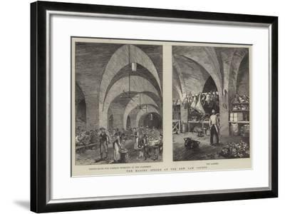 The Masons' Strike at the New Law Courts--Framed Giclee Print