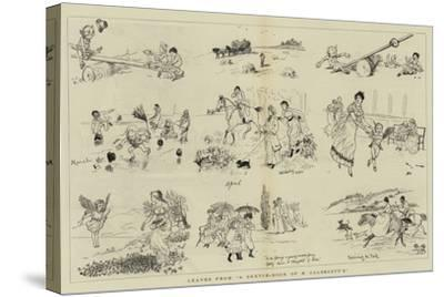 Leaves from A Sketch-Book of R Caldecott'S--Stretched Canvas Print