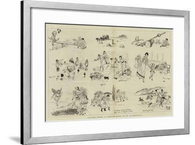 Leaves from A Sketch-Book of R Caldecott'S--Framed Giclee Print