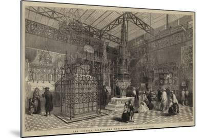 The Crystal Palace, the Mediaeval Court--Mounted Giclee Print