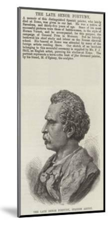 The Late Senor Fortuny, Spanish Artist--Mounted Giclee Print