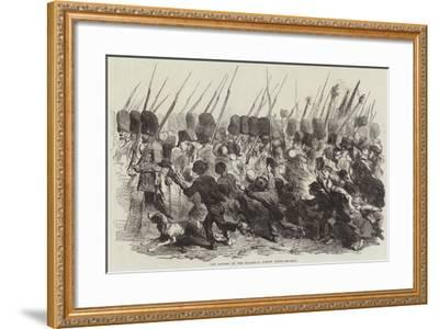 The Return of the Guards, a Street Scene--Framed Giclee Print
