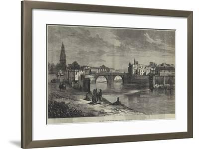 The Great Floods in Spain, Town of Murcia--Framed Giclee Print