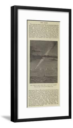 The Comet as Seen from the P and O SS Assam--Framed Giclee Print
