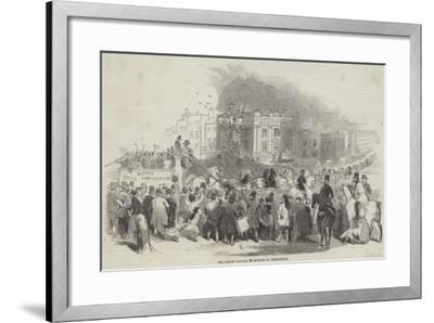 Mr Emily Driving 28 Horses to Greenwich--Framed Giclee Print