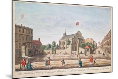 Kensington Church, London, S.E. View--Mounted Giclee Print