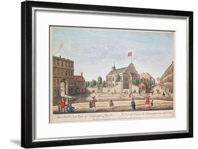 Kensington Church, London, S.E. View--Framed Giclee Print