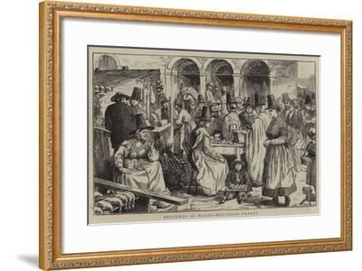 Sketches in Wales, Holyhead Market--Framed Giclee Print