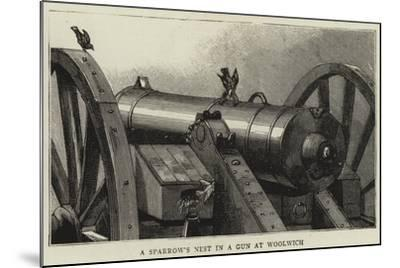 A Sparrow's Nest in a Gun at Woolwich--Mounted Giclee Print