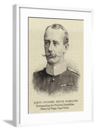 Lieutenant-Colonel Bruce Hamilton--Framed Giclee Print