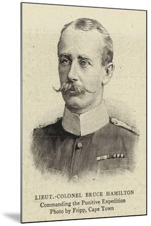 Lieutenant-Colonel Bruce Hamilton--Mounted Giclee Print