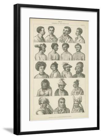 Man, Varieties of the Human Race--Framed Giclee Print
