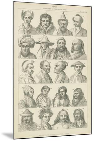 Man, Varieties of the Human Race--Mounted Giclee Print