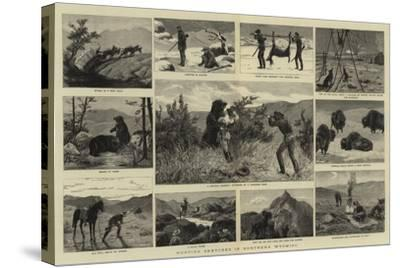 Hunting Sketches in Northern Wyoming--Stretched Canvas Print