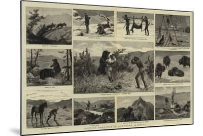 Hunting Sketches in Northern Wyoming--Mounted Giclee Print