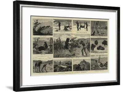 Hunting Sketches in Northern Wyoming--Framed Giclee Print