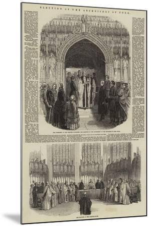 Election of the Archbishop of York--Mounted Giclee Print