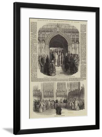 Election of the Archbishop of York--Framed Giclee Print