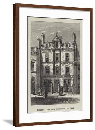 Hospital for Sick Children, Belfast--Framed Giclee Print