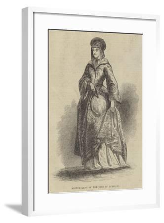 Scotch Lady of the Time of James IV--Framed Giclee Print